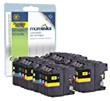 16 Moreinks Compatible Printer Ink Cartridges to Replace Brother LC127XLBK / LC125XLC / LC125XLM / LC125XLY for DCP-J4110DW MFC-J4410DW MFC-J4510DW MFC-J4610DW MFC-J4710DW - High Capacity (Black, Cyan, Magenta, Yellow)
