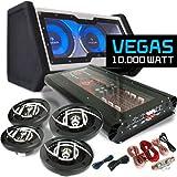 Auna Vegas Set car HiFi 4.1 10000W doppio subwoofer