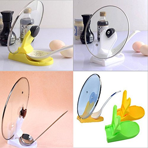 Useful Spoon Pot Lid Shelf Foldable Plastic Cooking Storage Kitchen Decor Tool Stand Holder (Color: Sent By Random) (Lid Holder For Crock Pot compare prices)