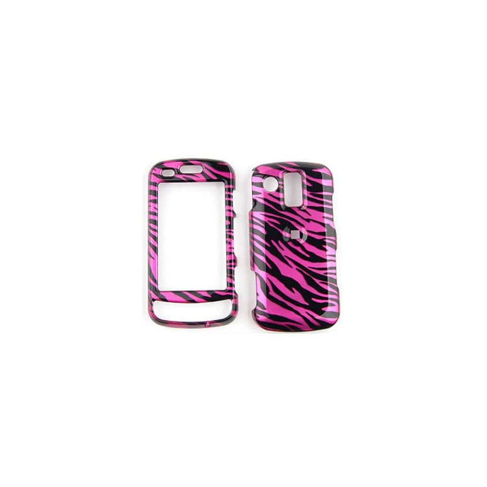 Samsung Rogue u960 Transparent Design, Hot Pink Zebra Print Hard Case/Cover/Faceplate/Snap On/Housing/Protector