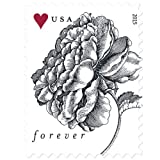A Vintage Rose Forever Stamp Sheet of 20