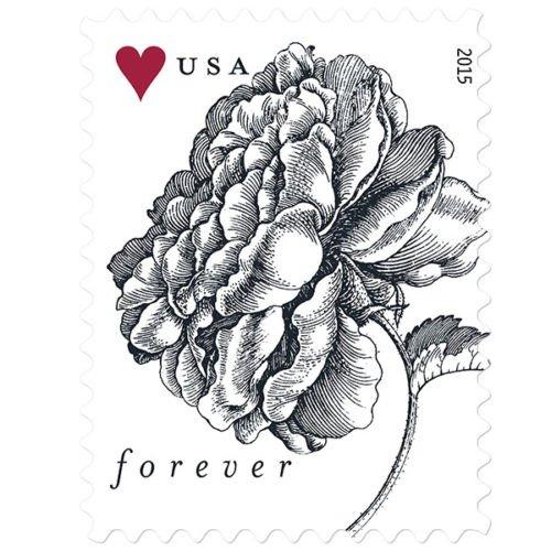 Vintage-Rose-Sheet-of-20-USPS-Forever-Stamps-Wedding-Anniversary-Celebration-Flowers