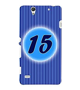 Fuson 3D Printed Numerology Designer back case cover for Sony Xperia C4 - D4233