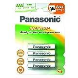 Panasonic Rechargeable Batteries P03I/4BC800 Infinium AAA X 4 800 mAh