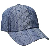 San Diego Hat Company Women's Quilted Denim Ball Cap with Adjustable Back
