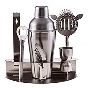 cuisine prefere pro stainless steel bartender martini shaker cocktail bar tool set. Black Bedroom Furniture Sets. Home Design Ideas