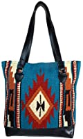 Large Eco Friendly Tote Bag, Native American Styles on Hand-Woven Wool