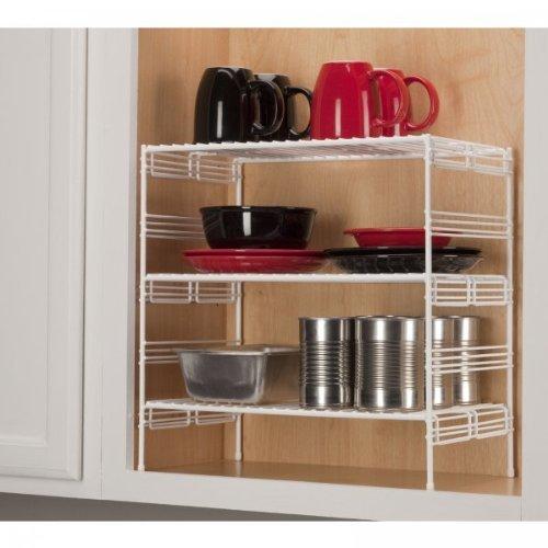 Grayline 40916 adjustable upper cabinet helper shelf large for Adjustable shelves for kitchen cabinets