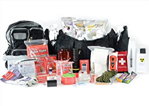 Urban Emergency Bug Out Bag - Deluxe 2 Person Go Pack - City Disaster Prepper Kit -... by Legacy Premium Food Storage