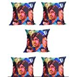 MeSleep Digitally Printed Assorted Bombay 5 Piece Cushion Cover Set - Multicolor