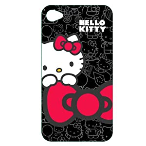 Hello Kitty Polycarbonate Wrap for iPhone&#174; 4 - Black/ Red (KT4488B4)