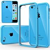 Caseology Apple iPhone 5C [Premium Fusion Series] - Slim Fit Hybrid Scratch-Resistant Clear back thin Cover with Shock Absorbent TPU Protector Bumper Case (Sky Blue) [Made in Korea] (for Verizon, AT&T Sprint, T-mobile, Unlocked)