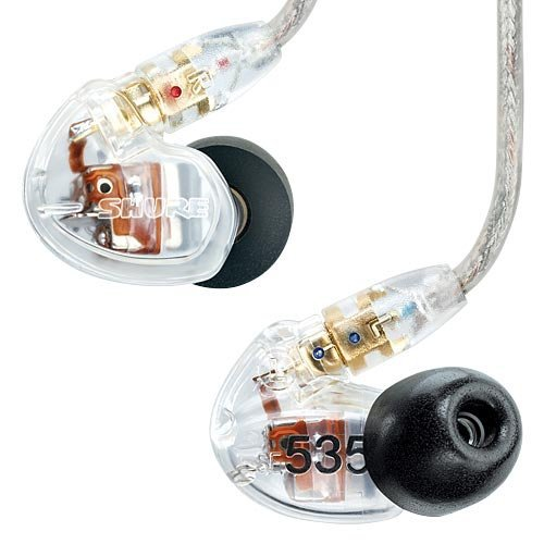 (Outlet Item)Shure Se535-Cl Clear Triple High-Definition Microdriver Earphone With Detachable Cable Japan Import