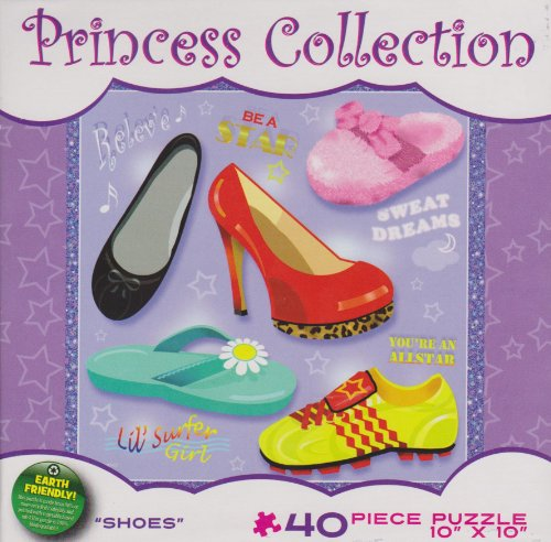 "Princess Collection 40 Piece Puzzle, ""Shoes"""