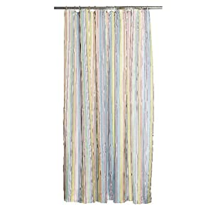 Lisbeth Dahl Multi Color Striped Shower Curtain
