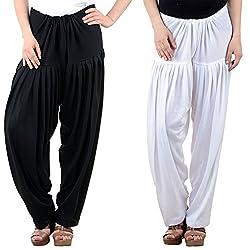 Numbrave Women's Wool Patiala Salwar (EANWOLPAT1-BK-W_Off-White_Free)