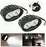 #7: Andride 2 Pcs of White Oval Shape 20 Watt Cree car / Bike led fog light bar Waterproof (White)