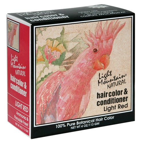 Light Mountain Natural Hair Color & Conditioner, Light Red, 4 oz (113 g) (Pack of 3) (Light Mountain Henna Hair Color compare prices)
