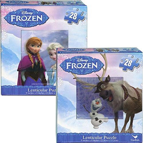 Disney Frozen Lenticular Puzzle (28-piece) - 2 pack - 1