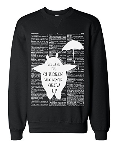 Totoro We Are The Children Who Never Grow Up Classic Sweatshirt XX-Large