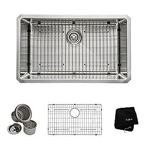 Kraus KHU100-30 30-Inch Undermount Single Bowl 16 gauge Kitchen Sink, Stainless Steel