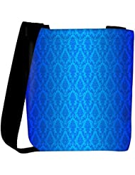 Snoogg Abstract Blue Pattern Design Designer Womens Carry Around Cross Body Tote Handbag Sling Bags - B01I1IRIJS