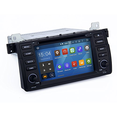 SYGAV Android 5.1.1 Lollipop Car Stereo CD DVD Player for BMW E46 M3 318i 320i 325i 328i with Quad Core Radio 2 Din 7inch In-dash GPS Sat Navigation (2005 325i Center Console compare prices)