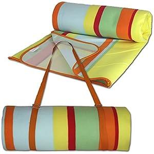 JEMIDI Picknickdecke XXL 200cm x 200cm (4m²) Campingdecke Schwimmbaddecke Strand Reise Decke Matte Strandmatte XL Stranddecke