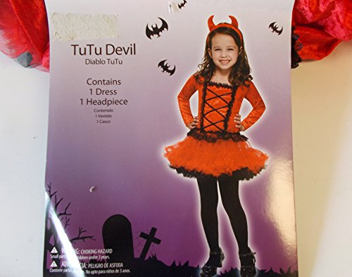 TuTu Devil Child Toddler Costume 3T-4T NIP