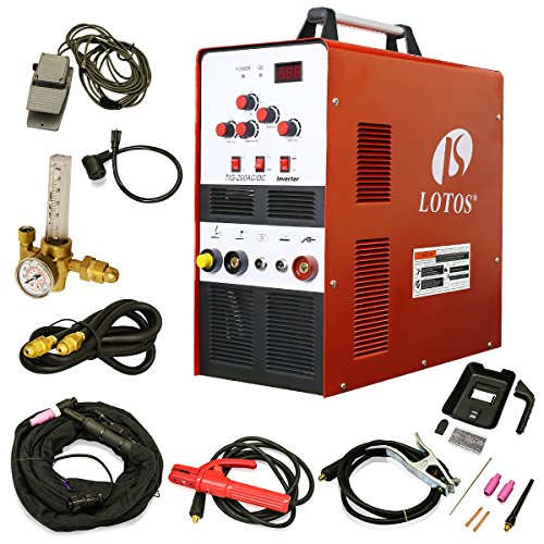 LOTOS TIG200 200A AC/DC Aluminum Tig/Stick Welder Square Wave Inverter with Pedal and Mask (Ac Masks compare prices)