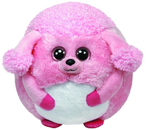 Ty Beanie Ballz Lovey Plush - Pink Poodle, Regular front-528849