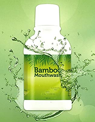Bamboo Mild Mouthwash for Adults and Kids - Bamboo Extract 10.14 Oz. , Alcohol-Free, Teeth Whitening, Fresh Breath, Remove Tartar and Stains from Food, Coffee, Tea, Smoking and Prevent Plaque