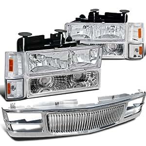Amazon.com: Chevy C10 C/K GMC Sierra, Chrome Headlights