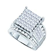14K White Gold 3 ct. Round and Prince…