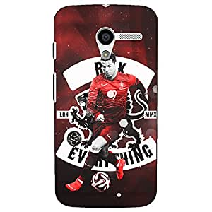 Jugaaduu Cristiano Ronaldo Portugal Back Cover Case For Moto X (1st Gen)