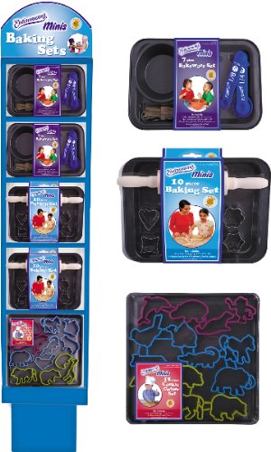 Kids Bakeware W/Display [32 Pieces] *** Product Description: Kids Bakeware W/Displayincludes 12 Each Of The Following : 7-Pc. Mini Bakeware Set , 10-Pc. Mini Bakeware Set, Small Bake Pan W/Animal Cookie Cutterspremium Non-Stick Coating For Easy C ***
