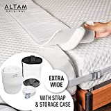 ALTAM Bed Bridge Mattress Joiner (Extra Wide) Twin to King Bedding Connector with Long, Adjustable Strap | Gap Filler Guard for Family, Guest Rooms | Quick Conversion (Color: White)