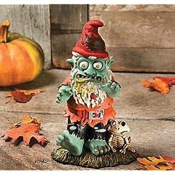 Creepy Halloween Dead Walking Zombie Gnome Garden Statue Sculpture