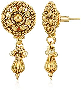 Buy Sia Art Jewellery Drop Earrings For Women Golden AZ2112 Online At Low Prices In India