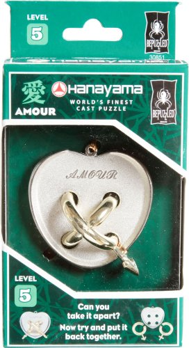 AMOUR Hanayama Cast Metal Brain Teaser Puzzle (Level 5) - 1