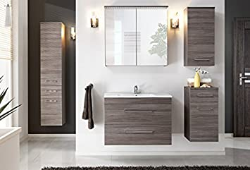 Cosmo XXL Avola 80cm Basin Vanity Unit Bathroom Furniture Set Bathroom Set Bathroom Furniture Soft Close