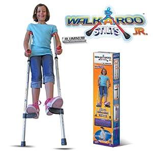Geospace Walkaroo JR. Lightweight Stilts with Ergonomic Design by Air Kicks, 110 Lbs. Max. (Aluminum)