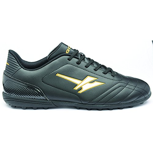 Gola Mens Magnaz VX Touch Fasten Futsal Shoes (9 US) (Black/Gold)