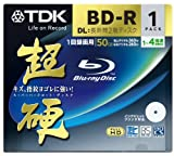 TDK 録画用ブルーレイディスク 超硬シリーズ BD-R DL 50GB 1-4倍速 ホワイトワイドプリンタブル 1枚 10mmケース BRV50HCPWB1A