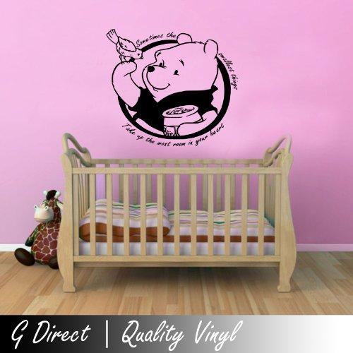 Winnie The Pooh Kids Nursery Wall Sticker Quote Bedroom Inspiring Vinyl Decal 4 front-913651