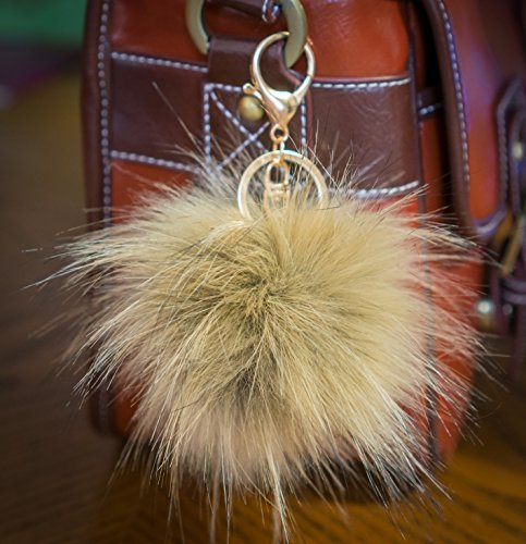 3-per-2-12-cm-grande-e-morbida-in-finta-pelliccia-raccoon-stile-pom-pom-grande-designer-oro-chiusura