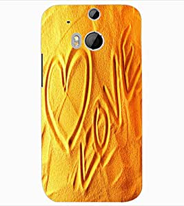 ColourCraft Love image Design Back Case Cover for HTC ONE M8