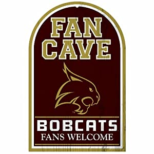 NCAA Texas State Bobcats 11-By-17-Inch Traditional Look Wood Sign by WinCraft