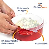 Multi Size 6 Silicone Lids - Back to School Reusable Wrap Stretch Lids Cover for Food and Spices Storage Cans, Containers, Cups, Mugs and Bowls - Perfect Kitchen Baking and Cooking Kitchen Gadgets