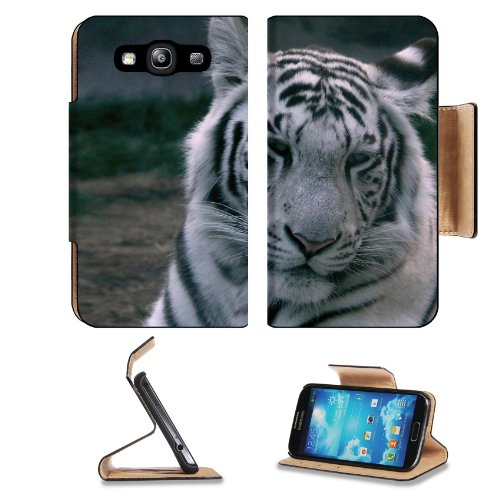 White Tiger Nature Africa Samsung Galaxy S3 I9300 Flip Cover Case With Card Holder Customized Made To Order Support Ready Premium Deluxe Pu Leather 5 Inch (132Mm) X 2 11/16 Inch (68Mm) X 9/16 Inch (14Mm) Msd S Iii S 3 Professional Cases Accessories Open C